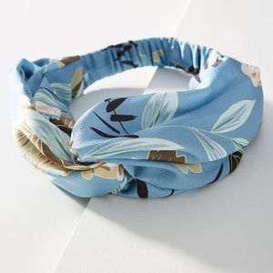 Anthropologie Hatteras knotted headband in blue